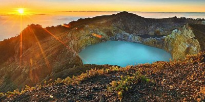 Sunrise View at Kelimutu Lakes